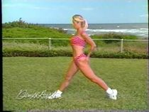 Denise Austin Red Stripe Bikini Pt 2 | Pilates