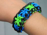 loom starburst rubber band bracelet by  | Rainbow Loom Bra
