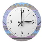 Cute colorful Ukraine ornaments background design Wall Clock #Cute #