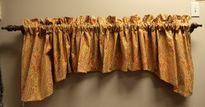 Tapered Valance in Cotton Print. $35.00, via Etsy.