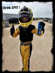 8yr old Diego Cortes about to start another Kart practice in Homestead