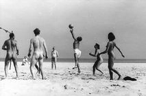 naked beach volleyball, germany 1950s | Naturism