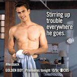 Theo James shirtless on Golden Boy | Theo James