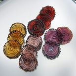 Amber Rose Purple Apricot Amber Fun and Funky Disks by CabariBeads, $
