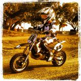 8yr old Diego Cortes riding his custom 50cc KTM in  | Motocross