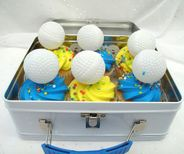Set 6 Golf Balls Cake Cupcake Toppers by YesterdaysWhimsy on Etsy, $2