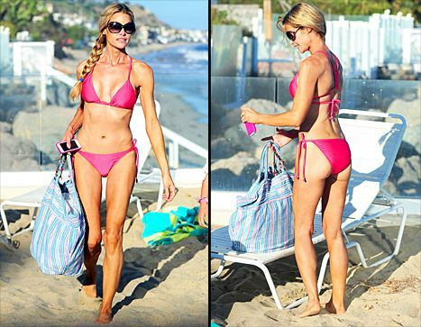 Denise Richards Looks Perfectly Toned In Pink Bikini Enjoys Day At Beach Picture