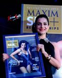 Ameesha Patel at the launch of Maxim Sex and Relationships magazine's