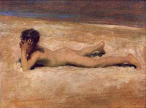 John Singer Sargent - A Nude Boy on a Beach - Fine Arts Reproduction