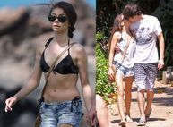 Photos of Sarah Hyland in a Bikini and Boyfriend Matt Prokop Relaxing