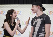 Ross Lynch, right, and Laura Marano, stars of the Disney TV show