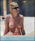 Sharon Stone Topless Beach Pics
