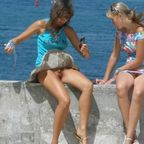upskirt shaved pussy lips labia exposed public accidental nude