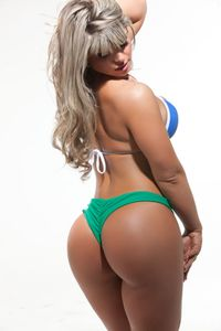 Carine Felizardo's butt is the 2012 winner of the Miss Bum Bum Brazil
