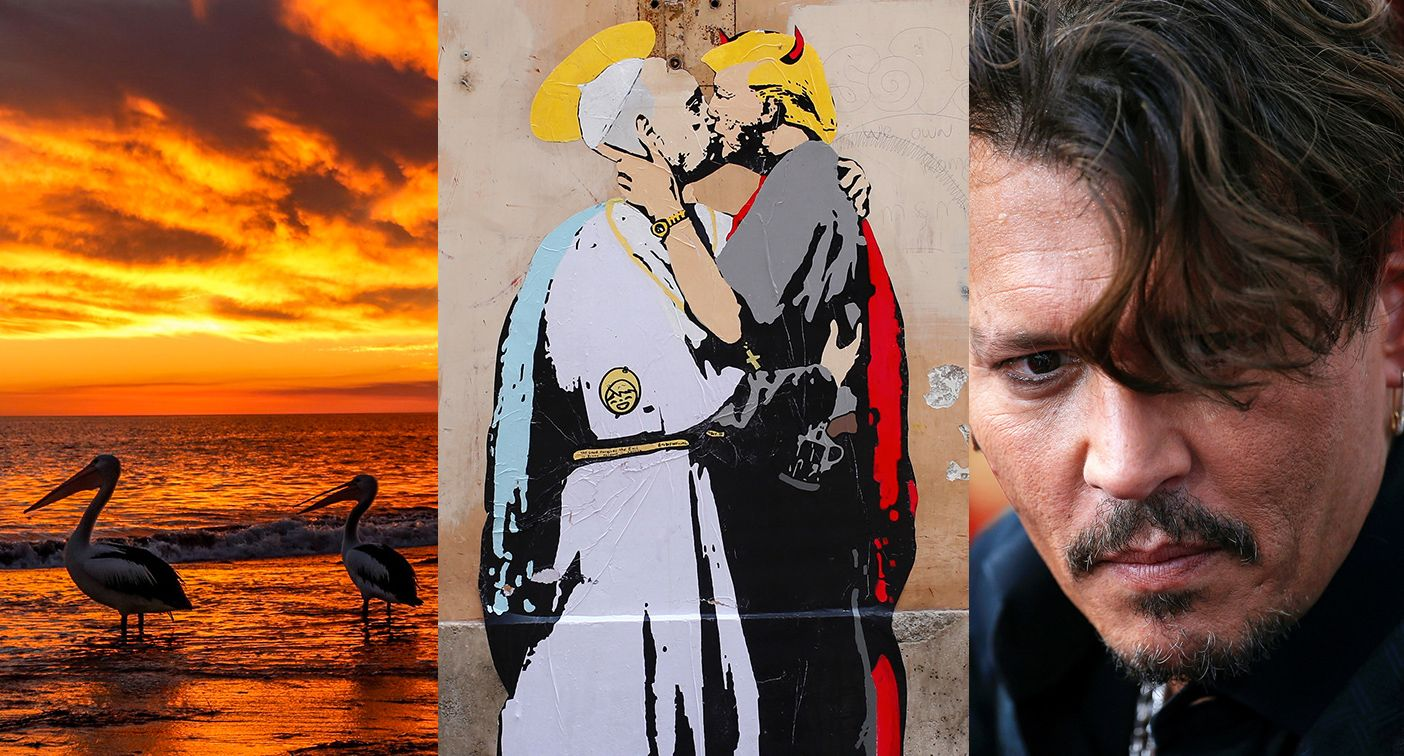 Trump kiss, Johnny Depp, pelicans, & more — it happened today: May 11 in pictures