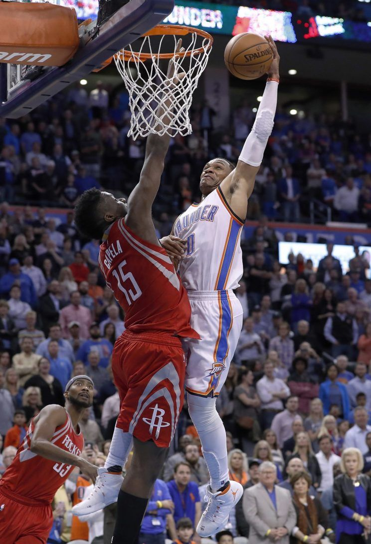 Russell Westbrook's dagger dunk on the Rockets was an instant classic - Yahoo Sports