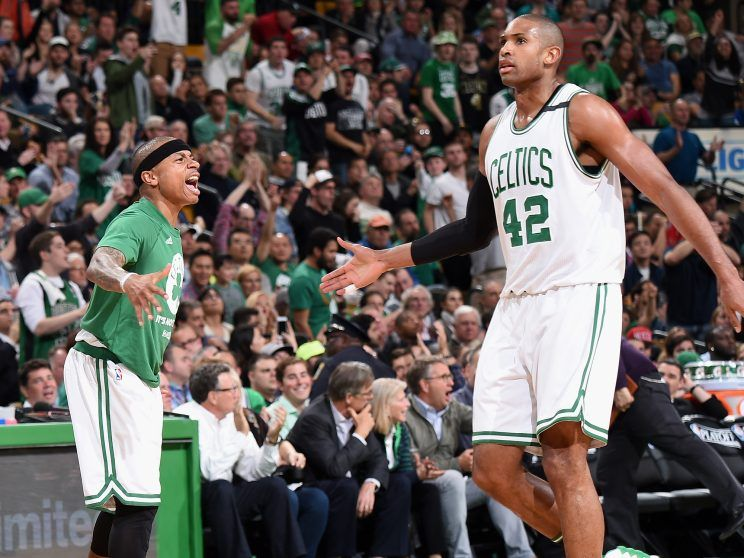 Isaiah Thomas and Al Horford 'get this mother rocking' to give the Celtics a 3-2 series lead - Yahoo Sports