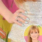 Bella Thorne updated a French manicure with a robin�s egg blue as