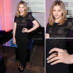 Chloe Moretz Black Lace Top