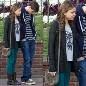 Sarah Hyland Teal Jeans