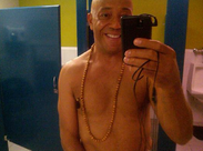 Russell Simmons tweeted this pic of himself in the bathroom in what