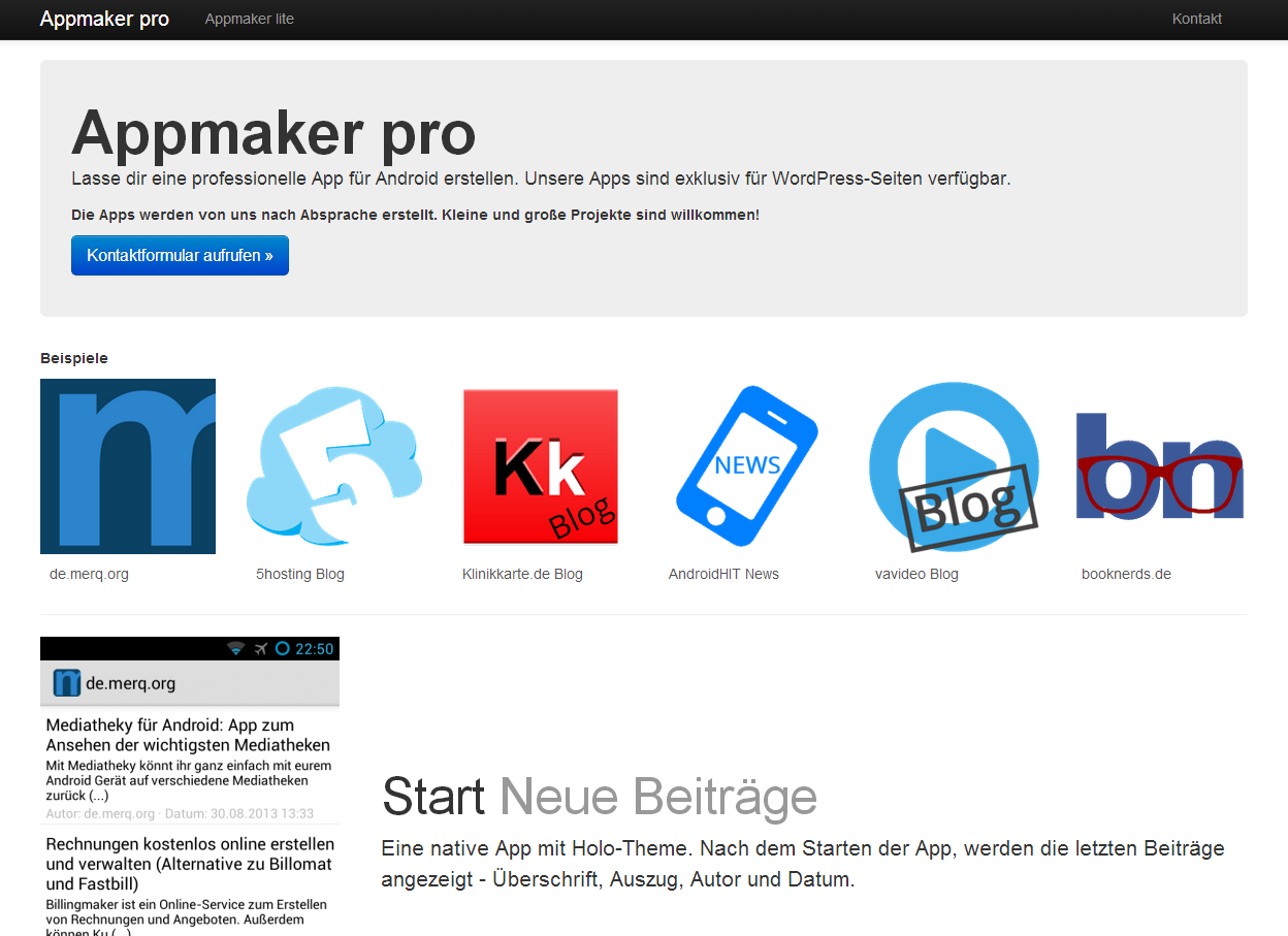 Appmaker pro - Native Android Apps für WordPress