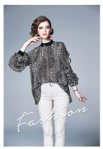 2019 Spring Summer New Loose Bottoming Fashion Tops Long Sleeve Chiffon Shirt Elegant Womens Tops and Blouses
