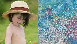 Autistic 3yearold stuns art world with her paintings :: NewsBite
