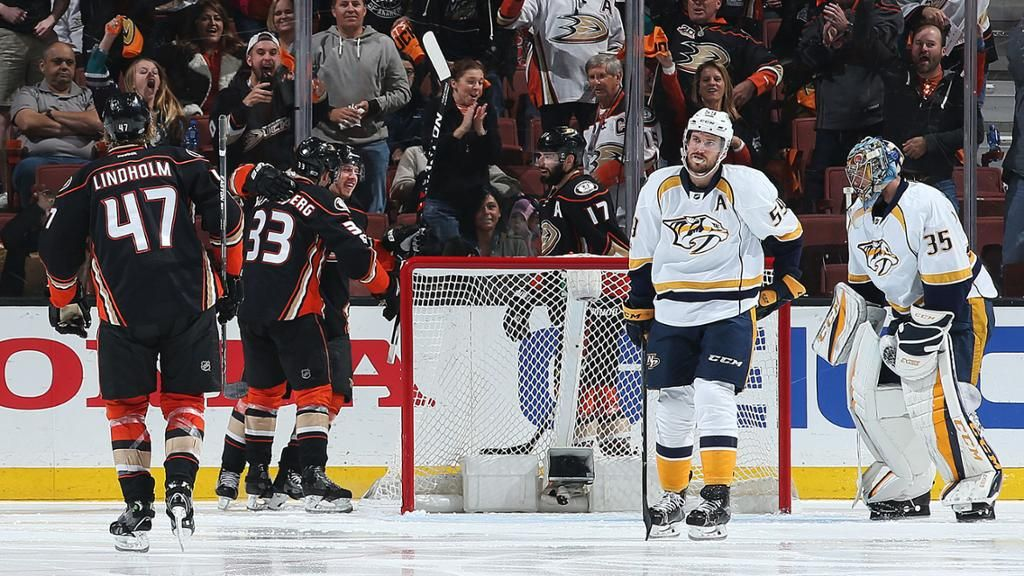 Preds Fall in Game Two as Ducks Even Western Conference Final 1-1 - NHL.com