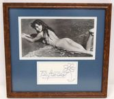 1018: AUTOGRAPHED NUDE PHOTO, BRIGITTE BARDOT : Lot 1018
