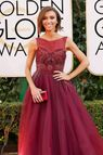Sarah Hyland arrives at the 71st annual Golden Globe Awards at the