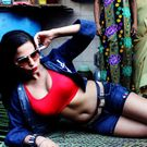 Bold actress Veena Malik poses inside a red light area shanti