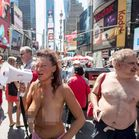 to go topless anywhere a man is able to, in New York, August 26, 2013