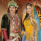 as Jodha face the camera at the launch of television show Jodha Akbar