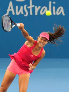 Ivanovic's Upskirt Shots in Brisbane International Tennis Tournament