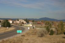 Laramie Peak in background photo, picture, image (Wyoming) at city