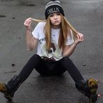 Hat: chillin, boots, shirt, acacia clark, shoes, tshirt  Wheretoget