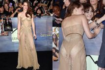 Kristen Stewart's Twilight Dress: Visible Butt Cheek