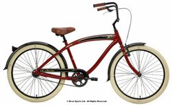Nirve Classic 3 Speed Shimano � Red � Mens Adult Custom Beach Bike