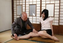 Pornographic movie actor Shigeo Tokuda performs with actress Yuri