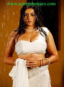Actress Namitha in white Dress with Wet Boobs show Pics - Namitha