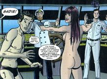 Sadie takes over a cruise liner at gunpoint… in the nude