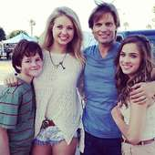 Kassandra Clementi With Casper Van Dien And Co-stars On The Set Of