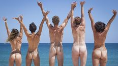world record attempt for the world�s biggest naked swim is being