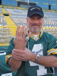 And the Fake Favre, an impressive lookalike, was on hand for the show