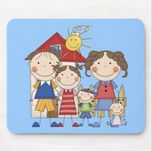 Dad, Mom, Big Sister, Middle Brother, Baby Sis Mousepad at Zazzle ca