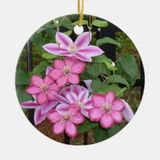 AC Pink Clematis Flower Ornament