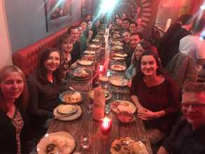 2019 Okkenhaug Edgar Roychoudhuri labs Christmas dinner