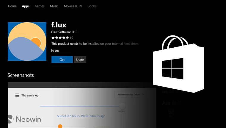 Blue light filtering app f.lux comes to the Windows Store