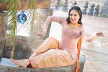 South Indian actress Sridevi posing wet and sexy in telugu movie Image